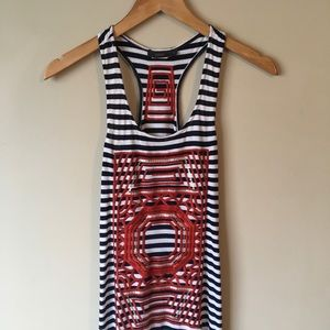 THML Dress | Boho Style | Striped and Embroidered